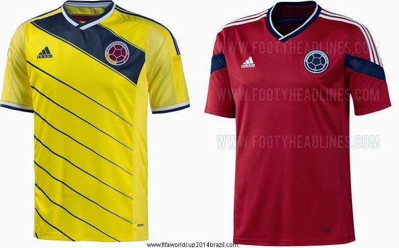 62fff86d313 2014 brazilian world cup soccer jerseys colombia team away blank red ...