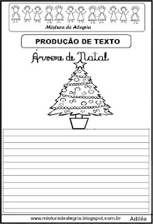 Produção de texto árvore de natal