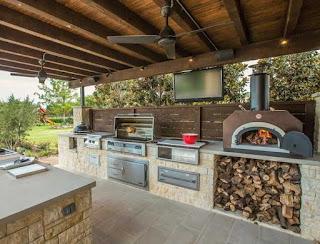 Desain Dapur Semi Outdoor Di Belakang Rumah