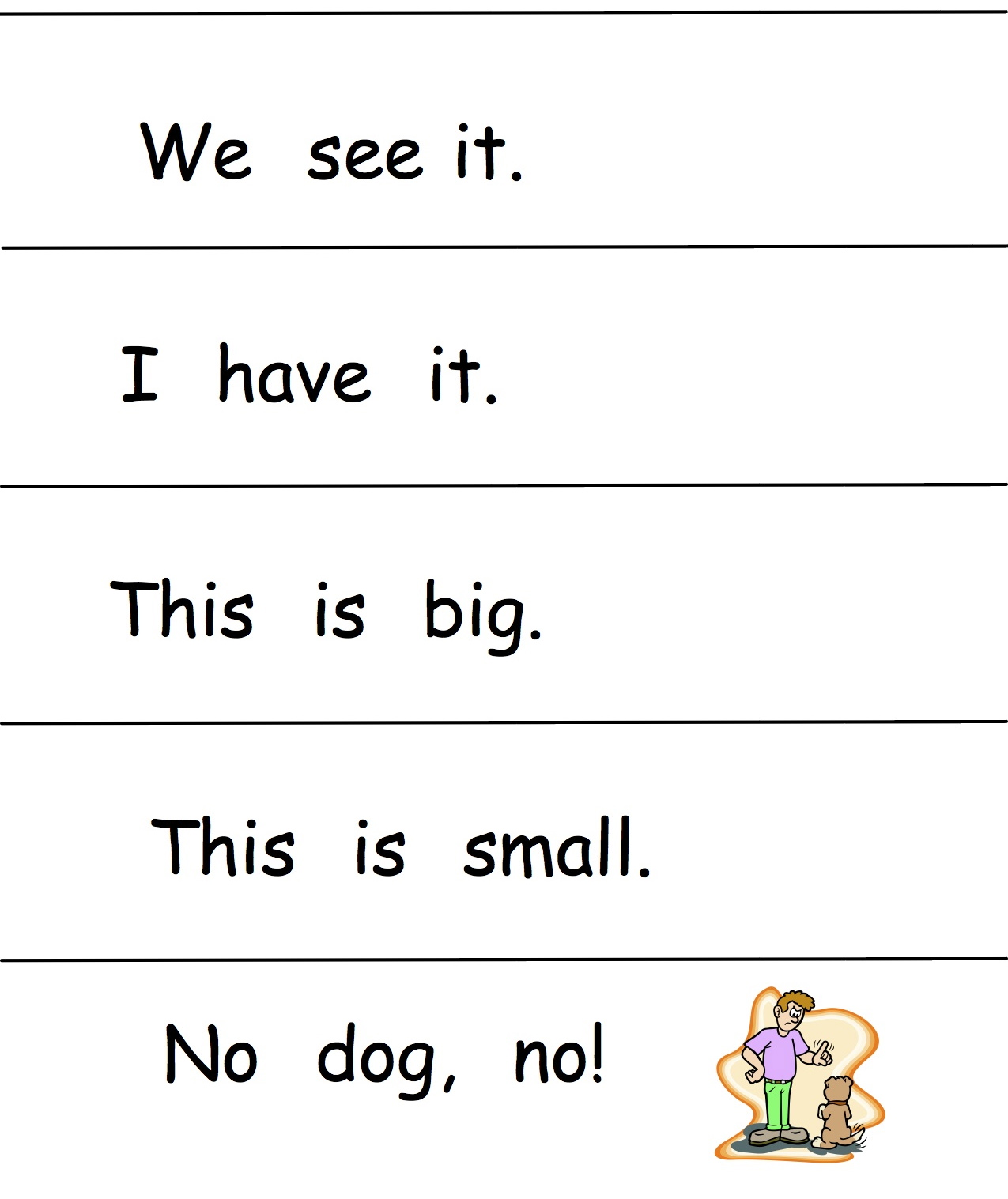 Kindergarten Simple Sentences Worksheet - Kindergarten