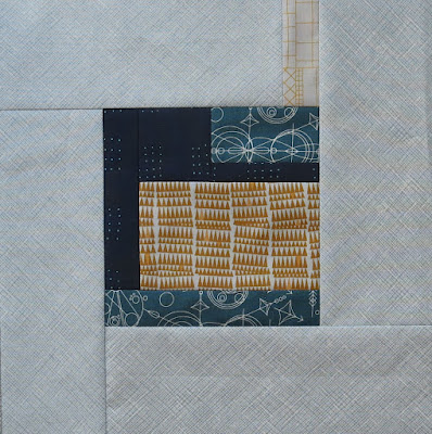 Modern quilt block using Tula Pink City Sampler pattern