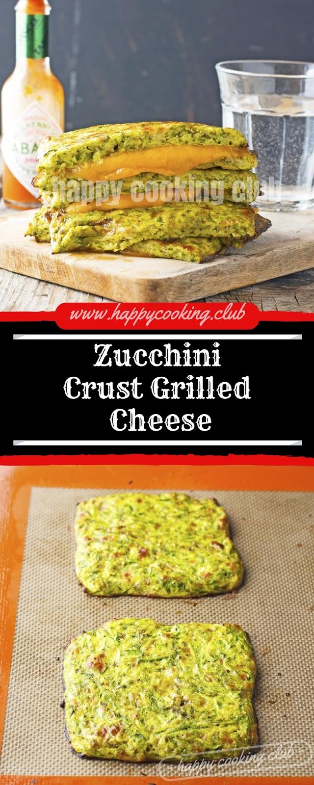 Zucchini Crust Grilled Cheese