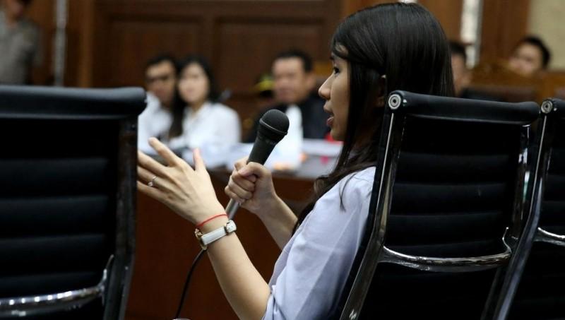 Hani Juwita Boon saat bersaksi di PN Jakpus
