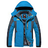 Lega Men's Outdoor Waterproof Mountain Jacket Fleece Windproof Ski Jacket (S, Blue)