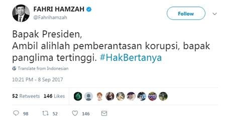 Presiden Jokowi: Perlu Saya Tegaskan Bahwa Saya Tidak akan Membiarkan KPK Diperlemah