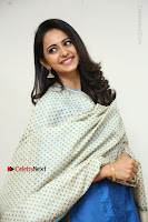 Actress Rakul Preet Singh Stills in Blue Salwar Kameez at Rarandi Veduka Chudam Press Meet  0101.JPG