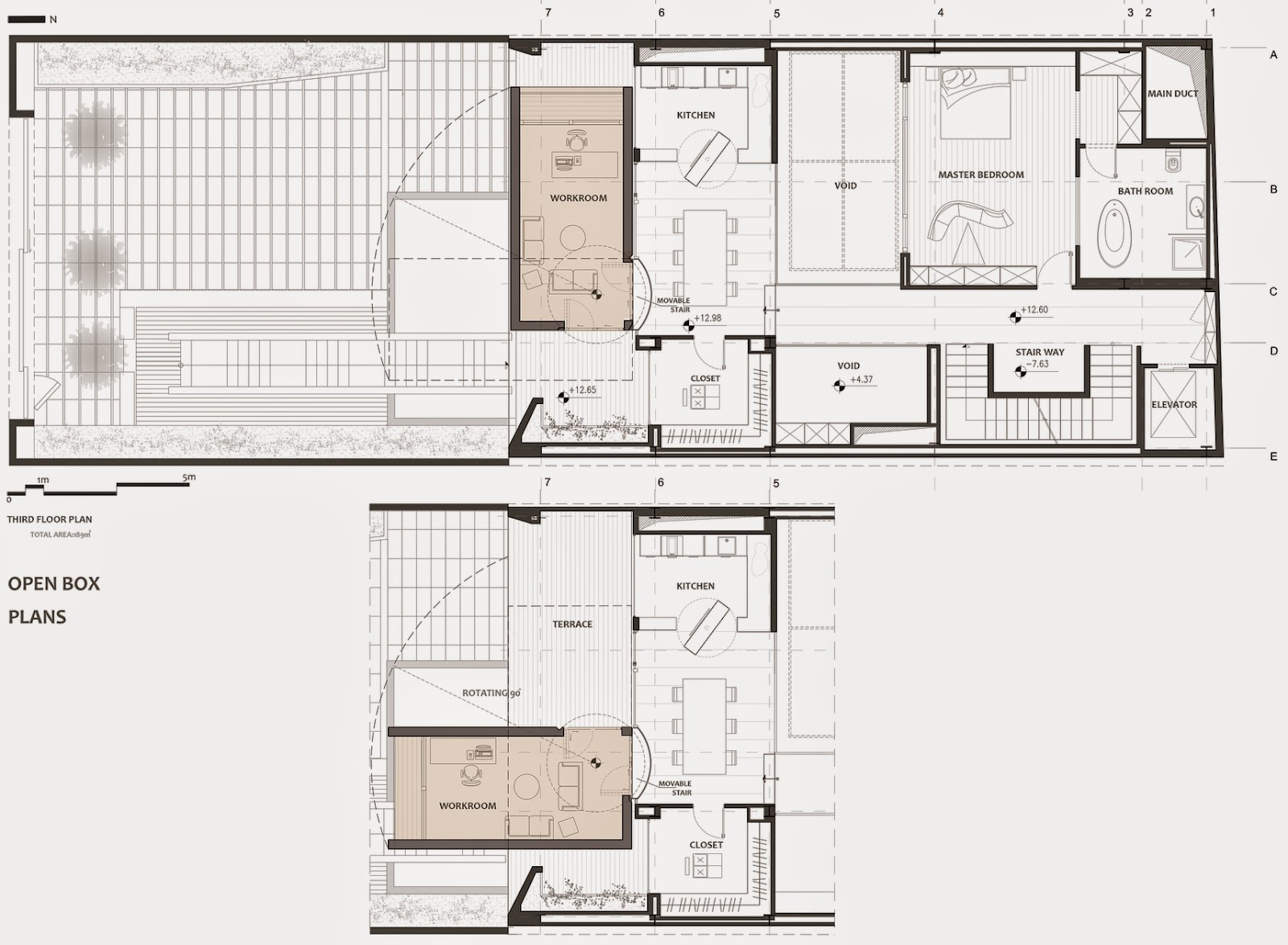 11-Plans-Third-Floor-Plan-Section-Nextoffice-Sharifi-Ha-House-Revolving-Rooms-Architecture-www-designstack-co