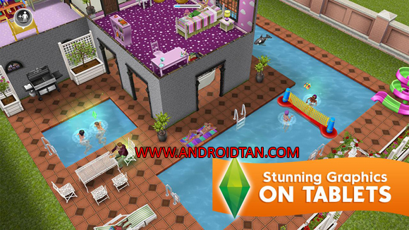 Free Download The Sims FreePlay Mod Apk + Data v5.27.2 (Unlimited Money/Points) Android Full Latest Version Terbaru 2017