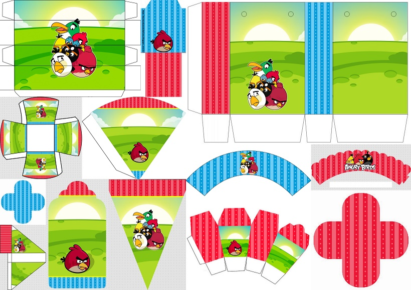 image relating to Angry Birds Printable identified as Offended Birds Birthday Bash: Totally free Printable Containers and Bash