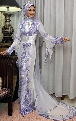 Contoh Baju Kebaya Muslim untuk Pesta Pernikahan