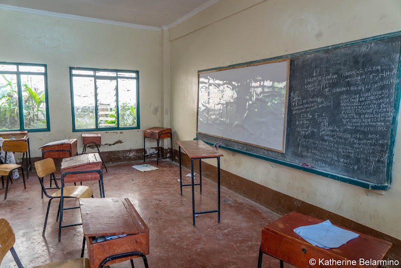 Uhuru Girls Academy Classroom Volunteering in Kenya with Freedom Global