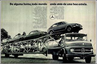 propaganda caminhão Mercedes-Benz 1972, Mercedes-Benz do Brasil anos 70, Mercedes-benz década de 70, caminhão mercedes, Oswaldo Hernandez,
