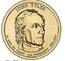 Presidential Dollar - John Tyler