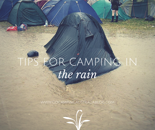 how to go camping in the rain