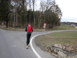acht kilometer joggen