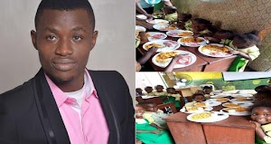 Nigerian Man Visits School And Buys Food For All The Kids To Celebrate World Food Day (Photos)