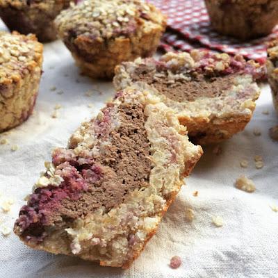 muffins quinoa framboises coeur chocolaté