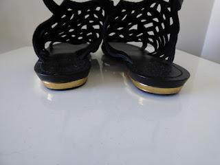 sandales noires Promod