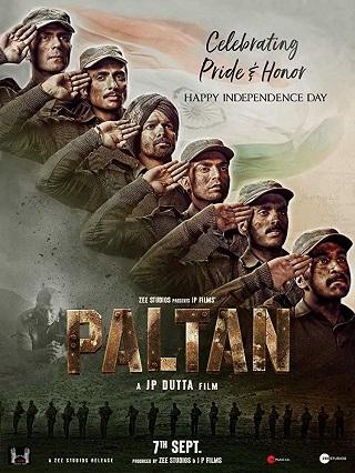 Paltan 2018 Hindi Full Movie 700MB Pre-DVDRip x264