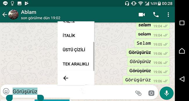 Whatsapp Yazı Stilini Değiştirmenin 2 Yolu-Programsız-www.ceofix.com