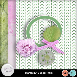 Blog train at My memories Shop