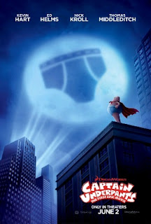 Sinopsis Film Captain Underpants: The First Epic Movie (2017)