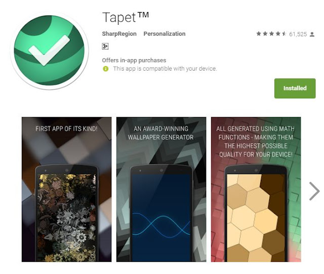 Tapet Android App Review
