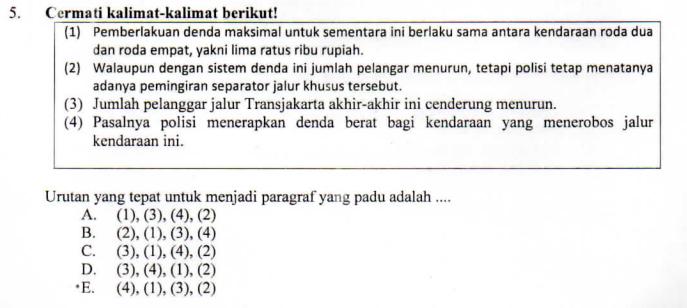 Mengurutkan Kalimat Acak Teks Eksposisi Zuhri Indonesia