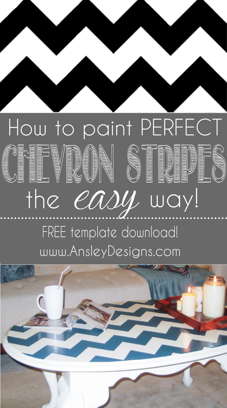 Ansley Designs: How to Paint Chevron Stripes