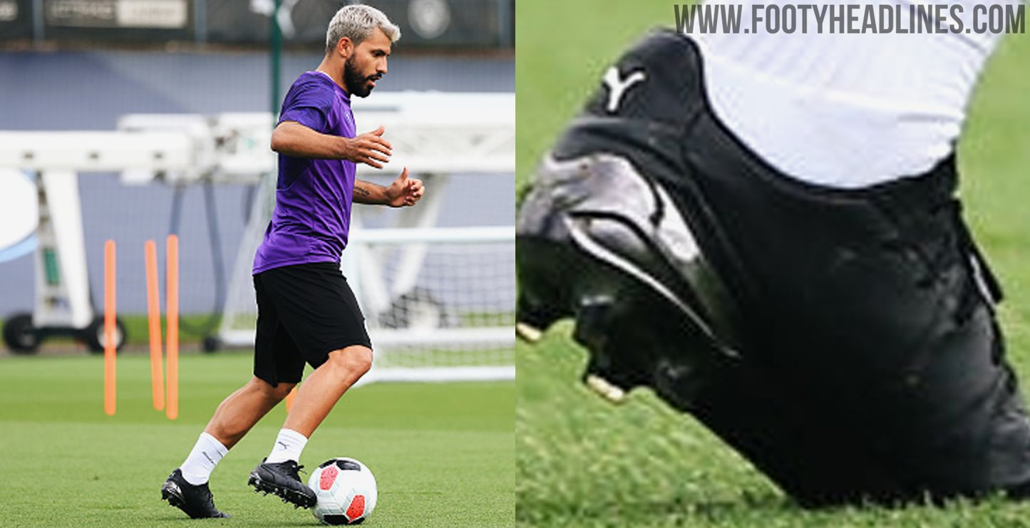buy cheap new list cheap prices Sergio Agüero Trains In All-New Puma King Platinum Boots ...