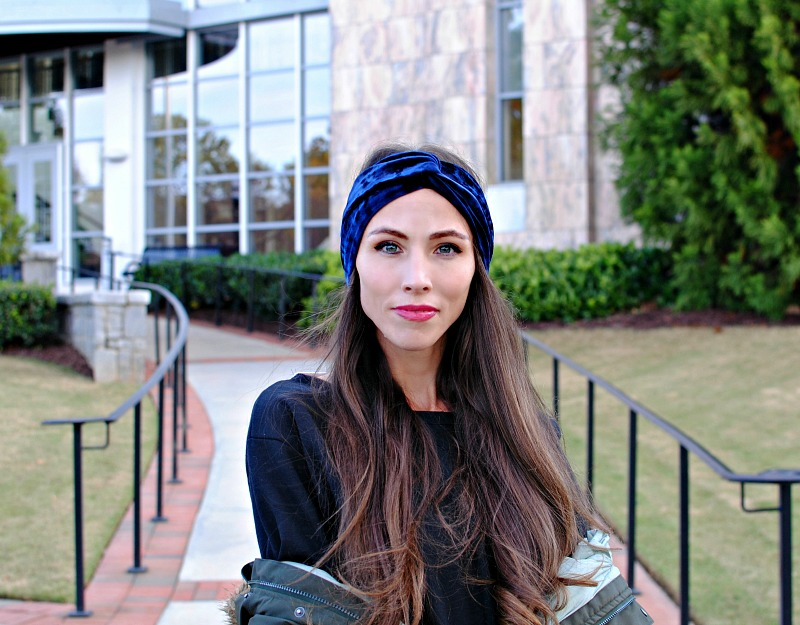 DIY Velvet Turban Headband