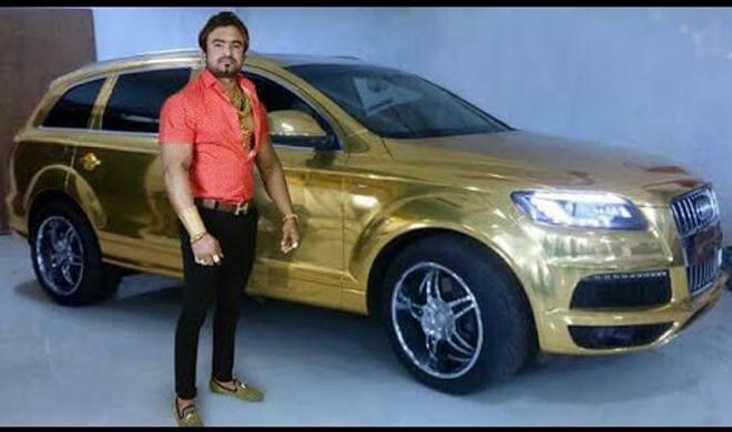 Image result for भारत में इस शख्स के पास भी सोने की कार