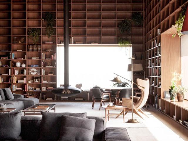 bibliothèque design toute la hauteur