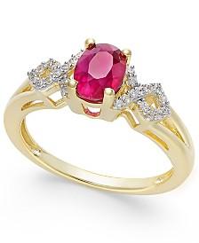 Nhẫn vàng đá Ruby thiên nhiên