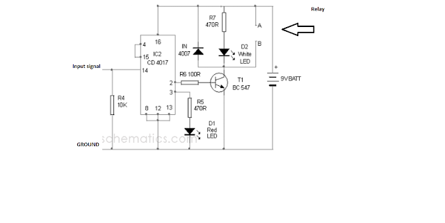clap switch relay connection