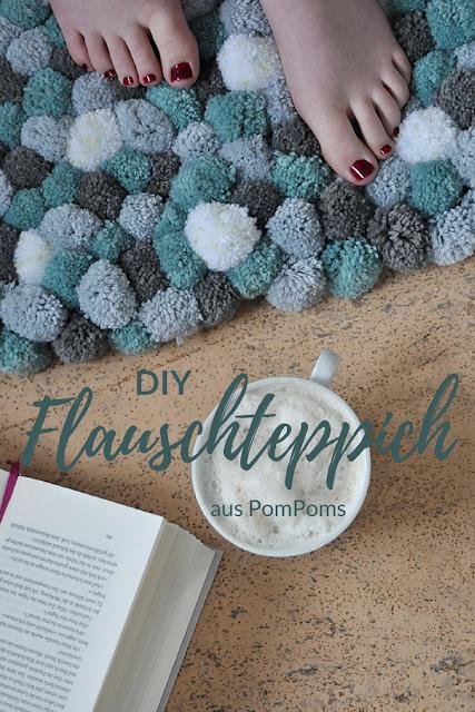 Teppich aus Pompoms selber machen DIY