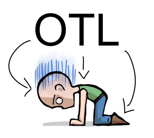 A sigla OTL explicada com um desenho estilo mangá.