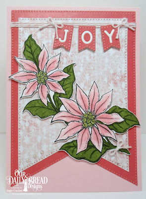 Our Daily Bread Designs Stamp/Die Duos: Joyful Christmas, Paper Collection: Christmas 2018, Custom Dies: Alphabet Flags, Large Banners
