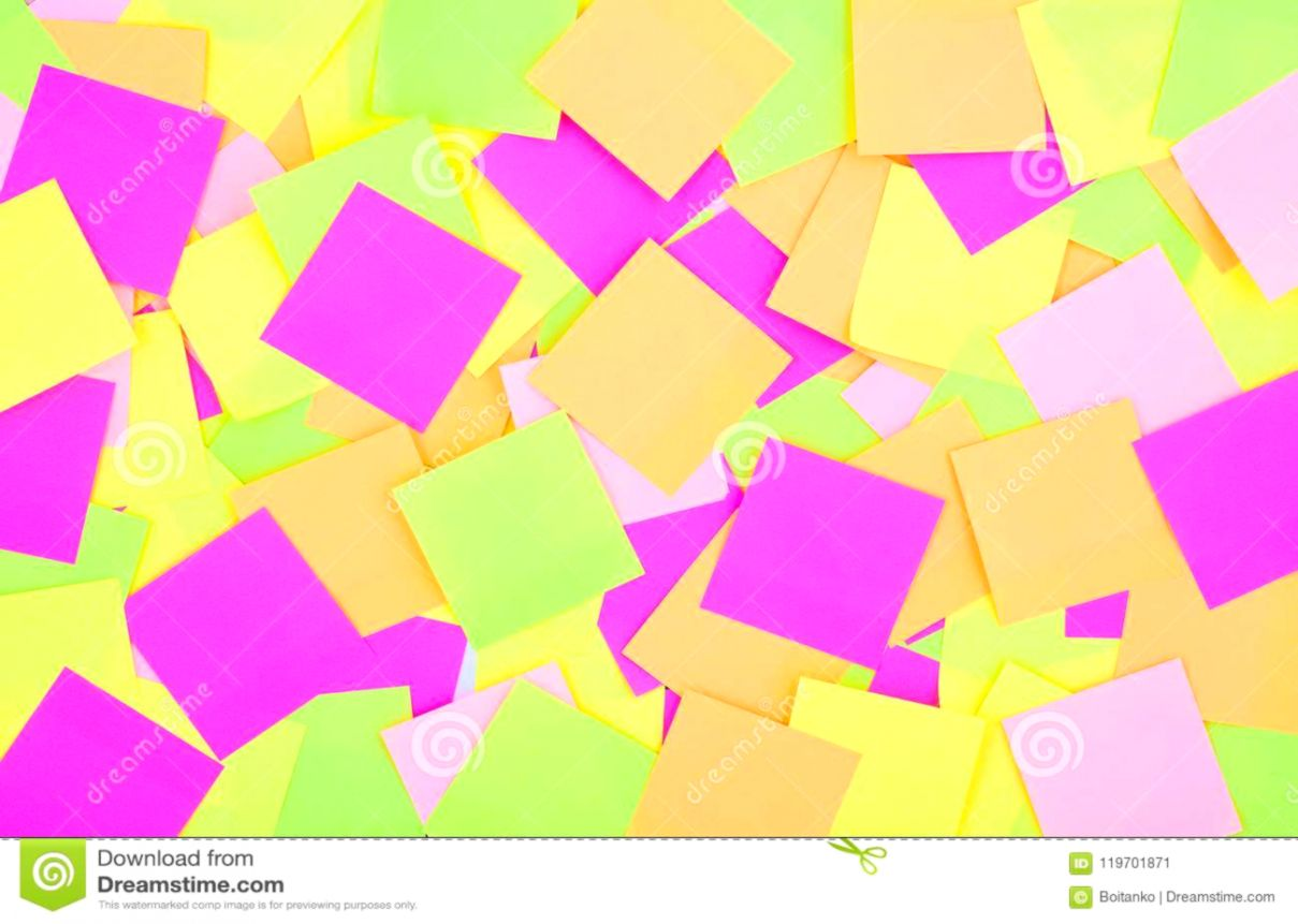 Many Colorful Post It Notes Background Radiant Colorful Reminder