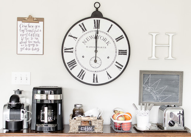 How to Organize a Coffee Station | personallyandrea.com