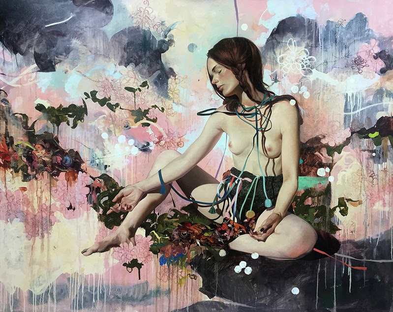 Inflorescence by Soey Milk - Her New Exhibition at Corey Helford Gallery.