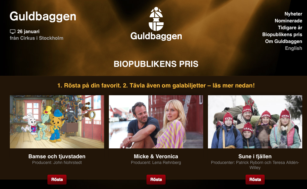 Soren Olsson Biopublikens Pris