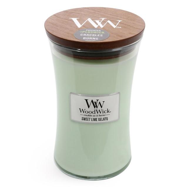 avis Sweet Lime Gelato de Woodwick
