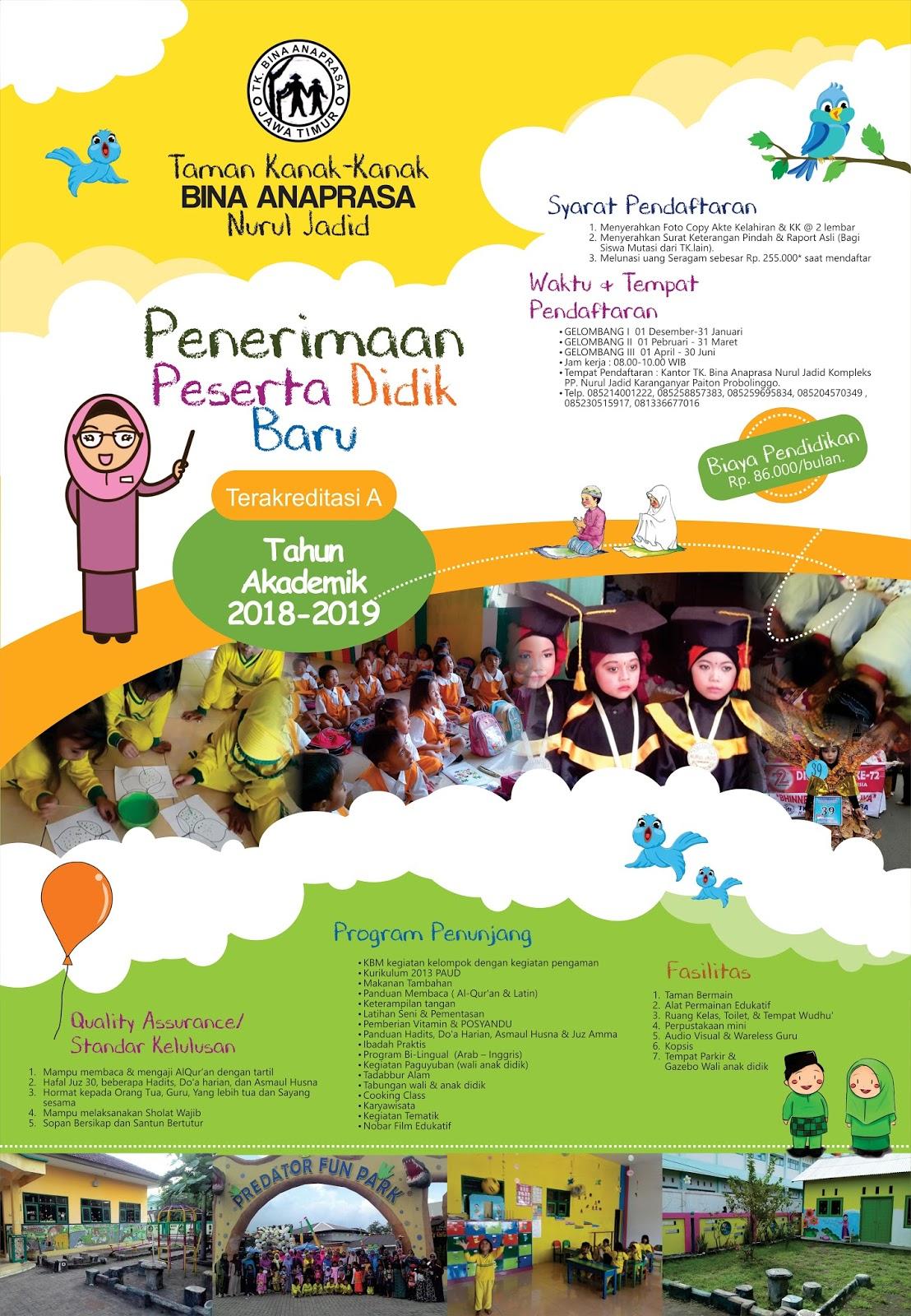 Pamflet Ppdb Tk Anaprasa Nurul Jadid