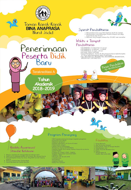 Pamflet PPDB TK Anaprasa Nurul Jadid 2018-2019