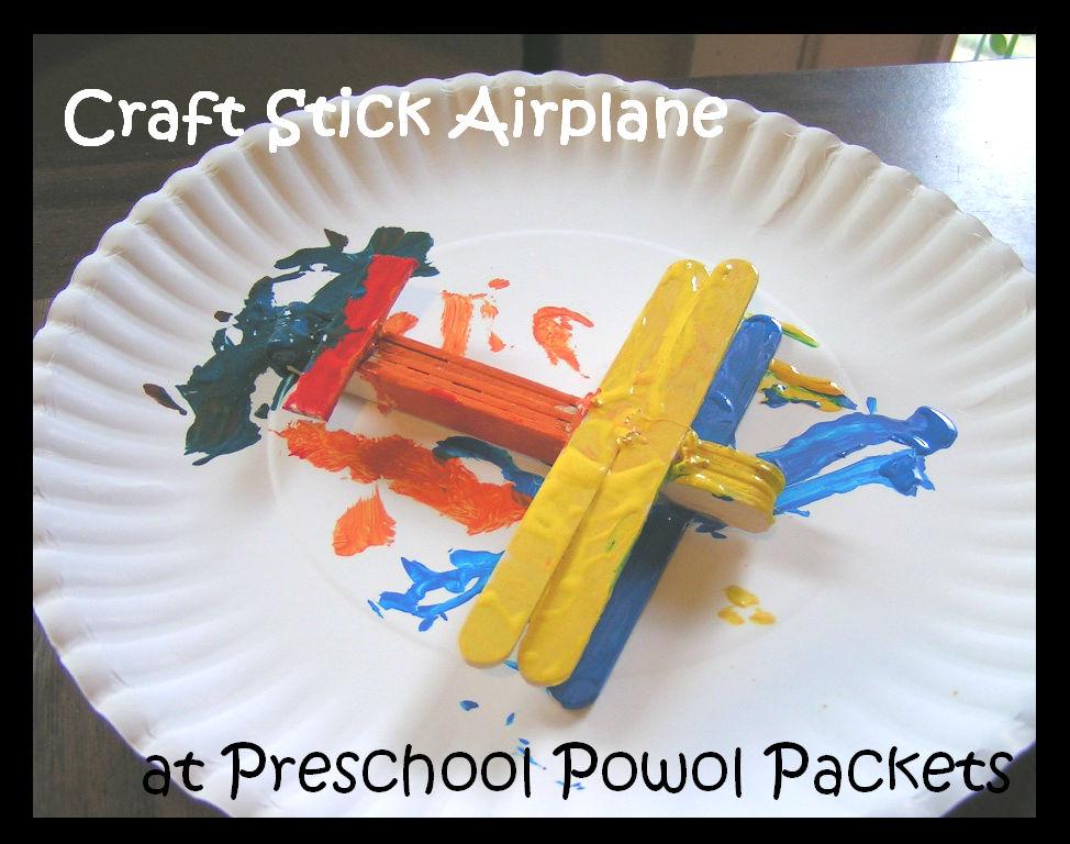 Craft Stick Airplane Preschool Powol Packets