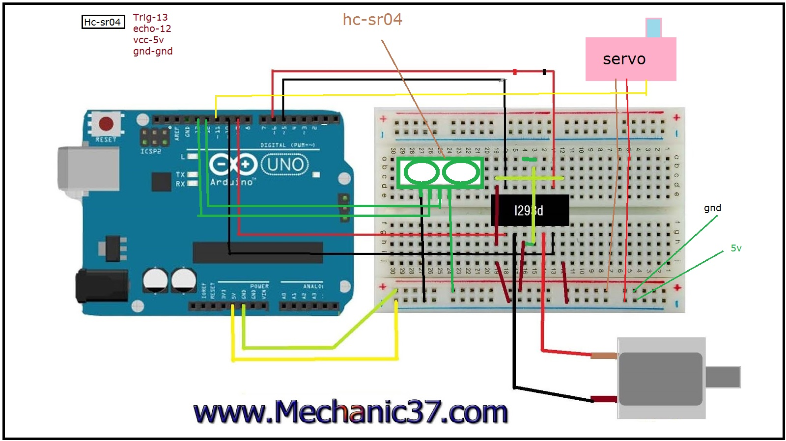 How to make a simple robot in hindi arduino uno robot brain circuit image servo ccuart Choice Image