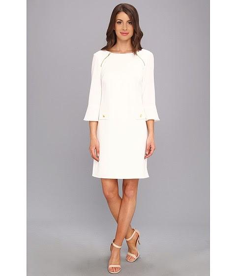 Shotguns and Pearls: Winter white dresses