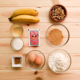 Ingredientes bizcocho platano nueces
