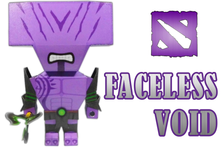 Dota 2 Faceless Void chibi papermodel